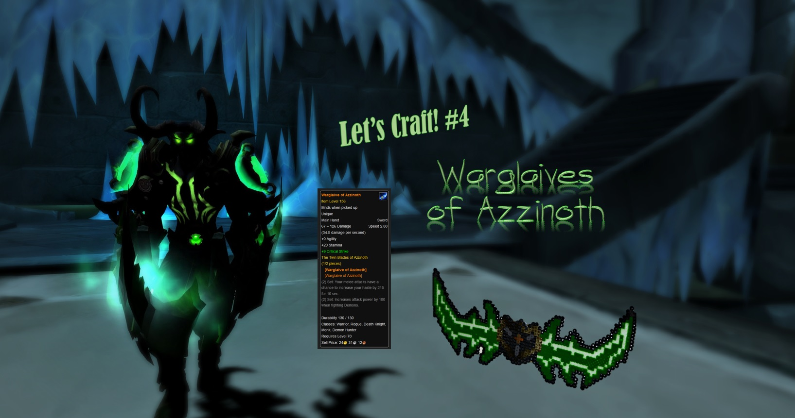 Straightforward Warcraft Warglave Of Azzinoth Tv, Film & Game Replica Blades